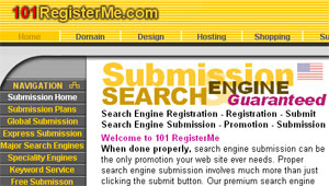 Search Engine Submission by 101registerme.net