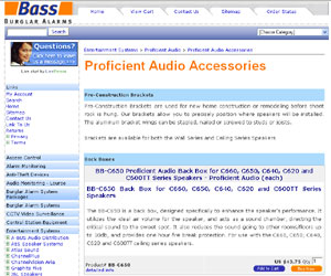 Audio Accessories - Proficient by bassburglaralarms.com