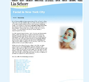 Facial in New York city by liaschorr.com