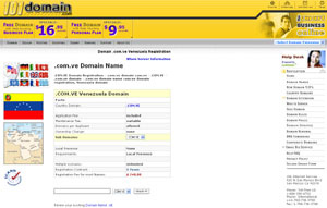 .COM.VE Domain Registration - Venezuela Domain Name COM.VE by 101domain.com