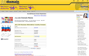.RU.COM Domain Registration - Russia Domain Name RU.COM by 101domain.com