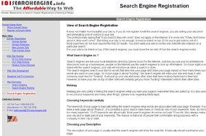 Search Engine Registration Tips and Use by 101searchengine.info