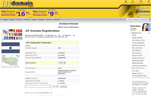 .SV Salvador Domain Name Registration .SV by 101domain.com